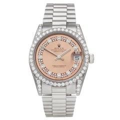 Rolex DateJust 31 Diamond 18 Karat White Gold 68159