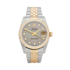 Rolex Datejust 31 Diamond Stainless Steel and Yellow Gold 68273G