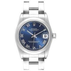 Rolex Datejust 31 Midsize Blue Dial Steel Ladies Watch 78240