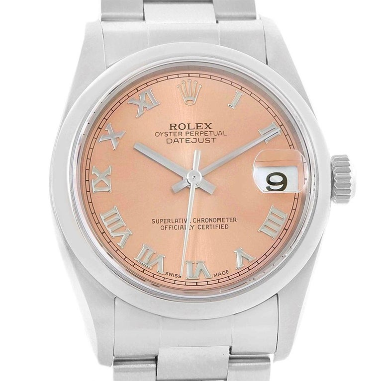 031a077606d7 Rolex Datejust 31 Midsize Salmon Dial Oyster Bracelet Ladies Watch 78240.  Officially certified chronometer automatic