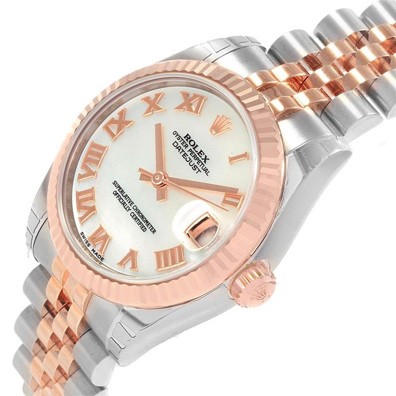 8325d1fbcaa Rolex Datejust 31 Midsize Steel Rose Gold MOP Watch 178271 Unworn For Sale  at 1stdibs