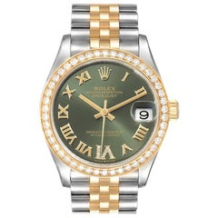 Rolex Datejust 31 Midsize Steel Yellow Gold Diamond Ladies Watch 278383