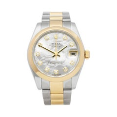 Rolex Datejust 31 Mother of Pearl Diamond Stainless Steel and Yellow Gold 178243