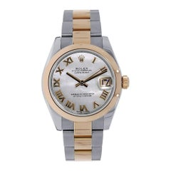 Rolex Datejust 31 Rose Gold and Stainless-Steel Slate Grey Roman Dial Watch