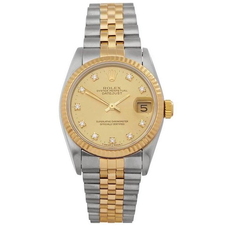 Rolex Datejust 31 Stainless Steel and 18 Karat Yellow Gold Women's
