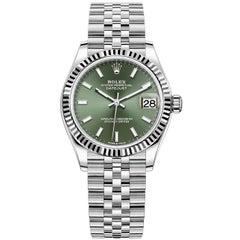 Rolex Datejust Green Dial Stainless Steel Oyster Jubilee Men's Watch 278274
