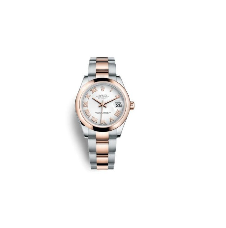 Women's Rolex Datejust Stainless Steel and Rose Gold Ladies Watch Model #: 178241 For Sale