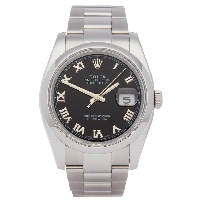 Rolex Datejust 36 116200 Men's Stainless Steel Watch For Sale