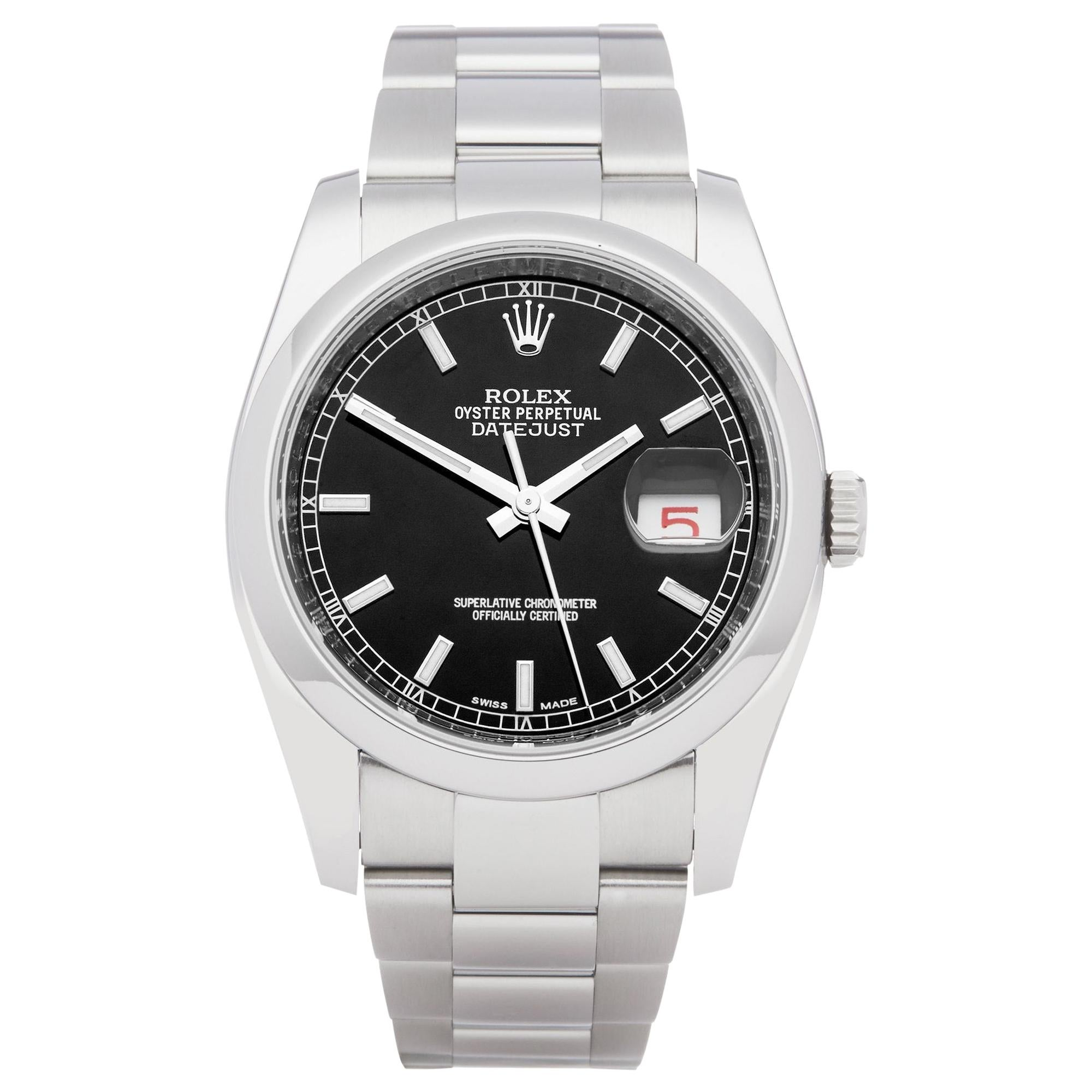 Rolex Datejust 36 116200 Men's Stainless Steel Watch
