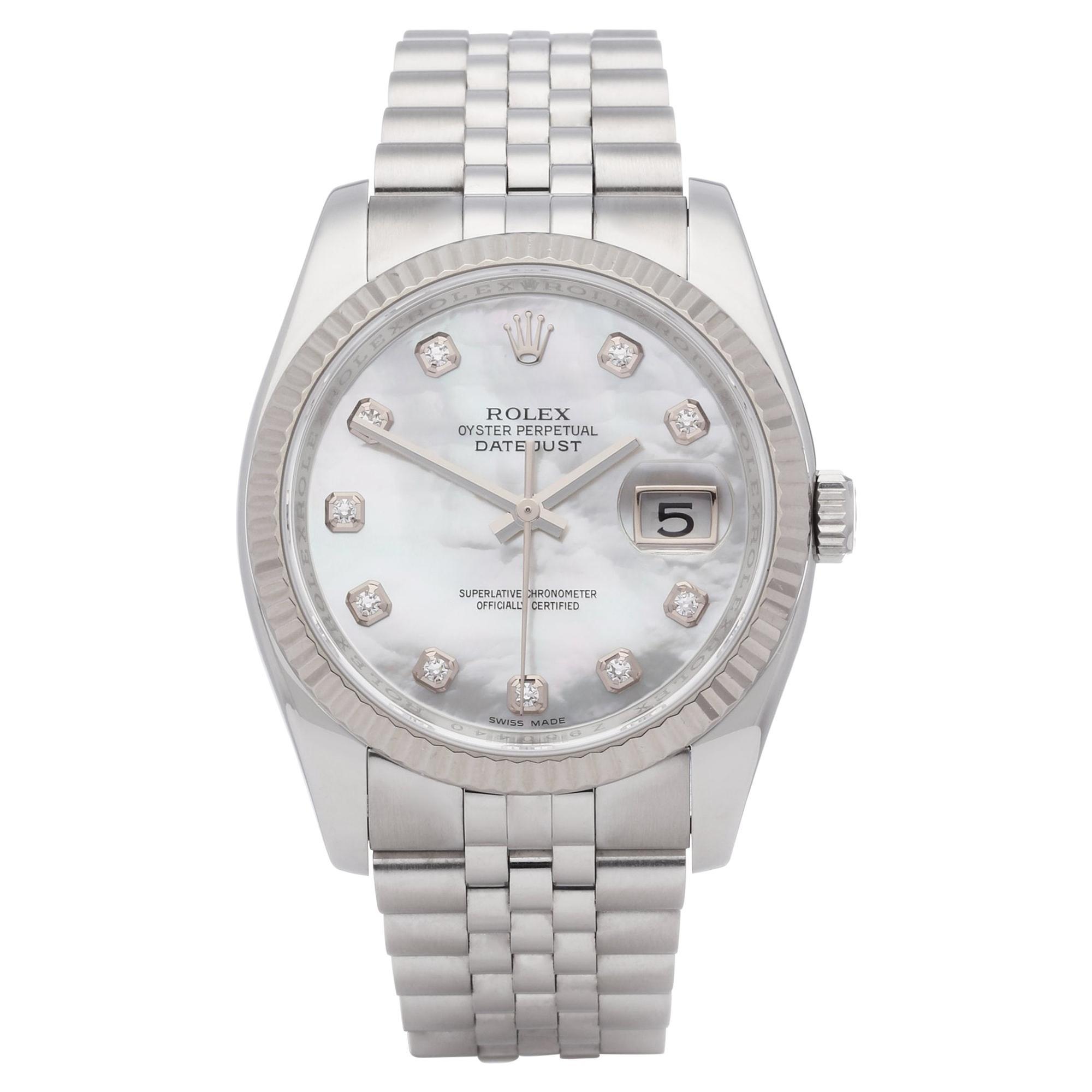 Rolex Datejust 36 116234 Unisex Stainless Steel 0 Watch