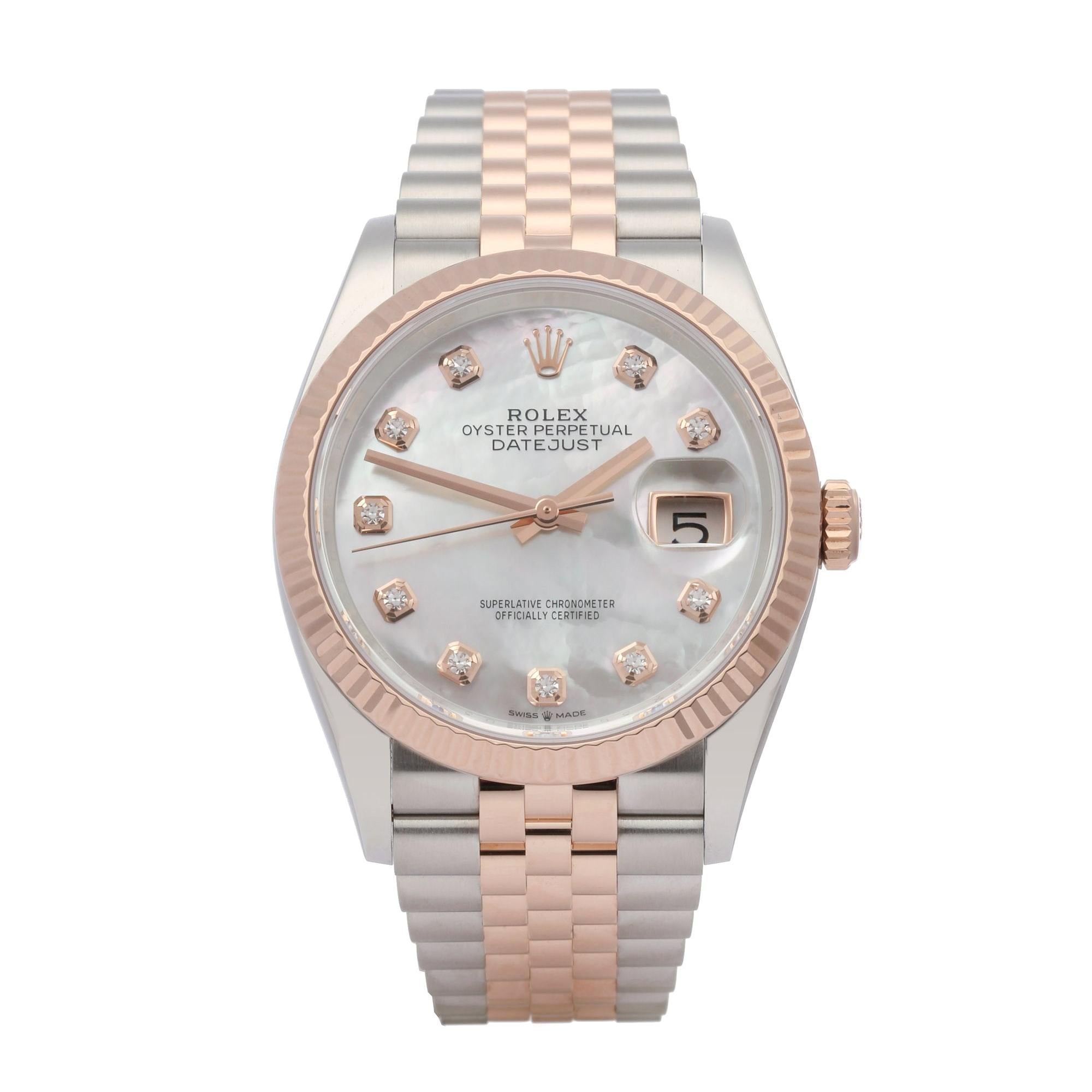 Rolex Datejust 36 126231 Unisex Rose Gold & Stainless Steel Watch