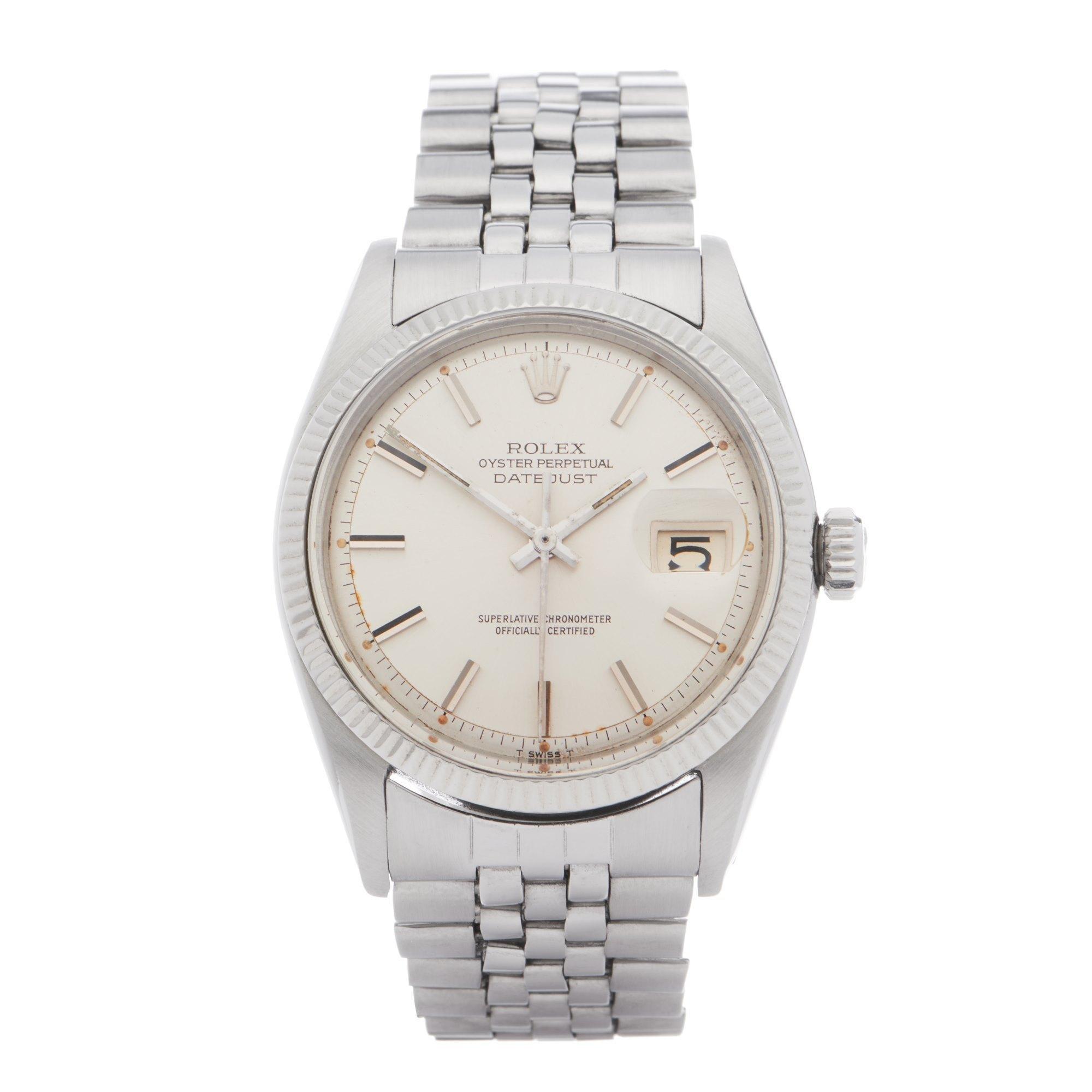 Rolex Datejust 36 1601 Men Stainless Steel 0 Watch