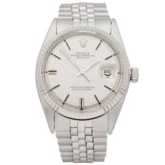 "Rolex Datejust 36 1601 Men Stainless Steel Linen Dial Sigma ""Aprior"" Watch"