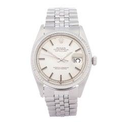 Rolex Datejust 36 1601 Men White Gold & Stainless Steel 18K Watch