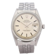 Rolex Datejust 36 1601 Men White Gold & Stainless Steel Watch