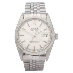 Rolex Datejust 36 1601 Men White Gold & Stainless Steel Watch