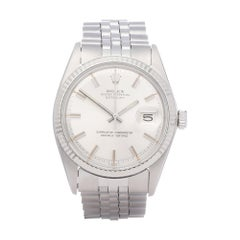 "Rolex Datejust 36 1601 Men White Gold & Stainless Steel ""Wideboy Dial"" Watch"