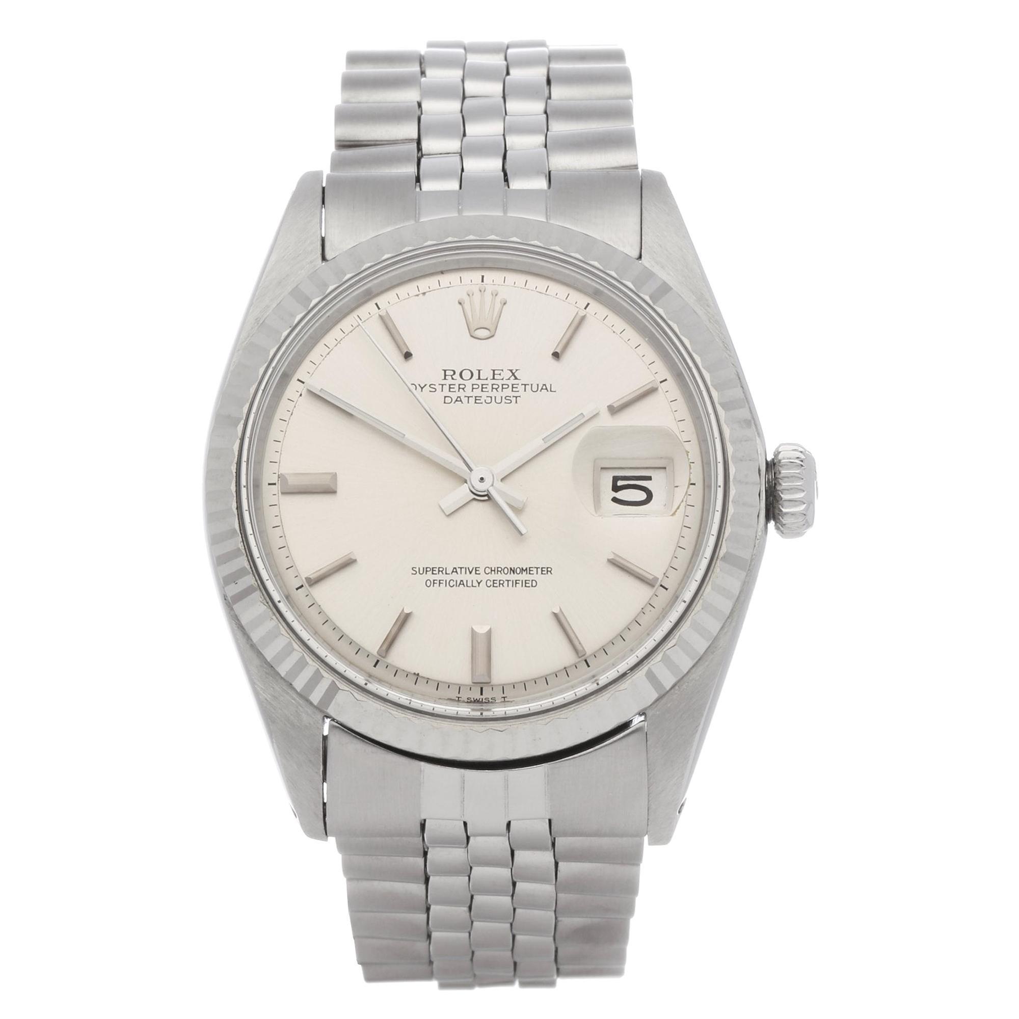 Rolex Datejust 36 1601 Men's White Gold & Stainless Steel Watch