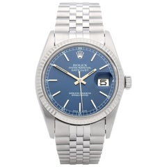 Rolex Datejust 36 16014 Men's Stainless Steel and White Gold Watch