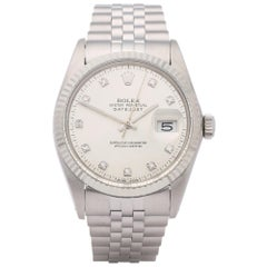 Rolex Datejust 36 16014 Men's Stainless Steel Diamond Watch