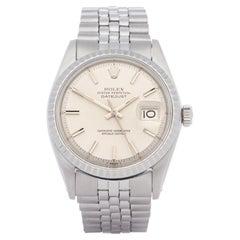 Rolex Datejust 36 1603 Men Stainless Steel 18K Watch