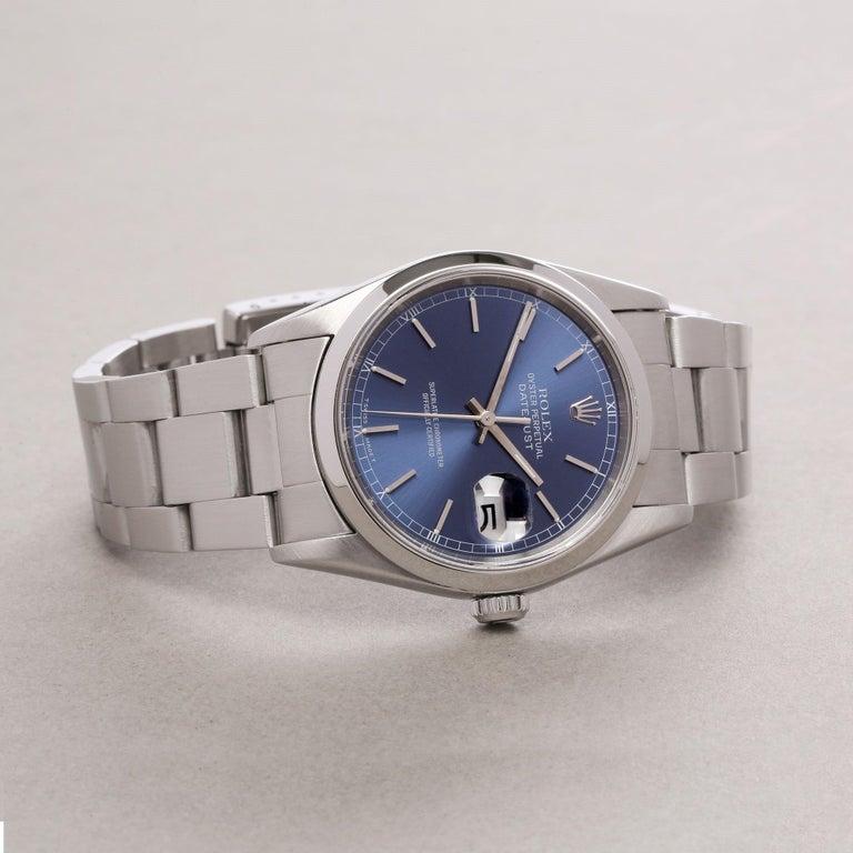 Rolex Datejust 36 16200 Men Stainless Steel 0 Watch For Sale 1
