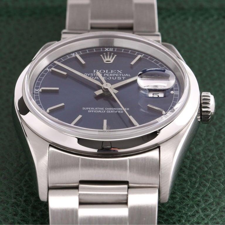 Rolex Datejust 36 16200 Men Stainless Steel 0 Watch For Sale 4