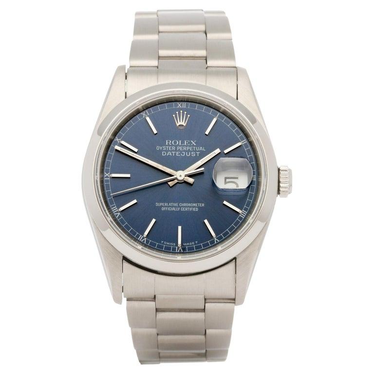 Rolex Datejust 36 16200 Men Stainless Steel 0 Watch For Sale