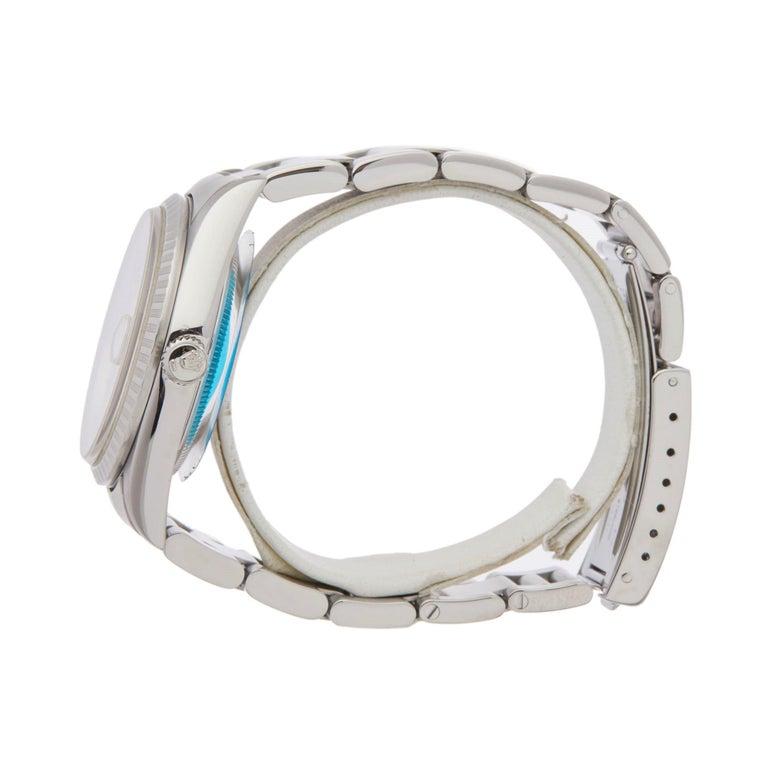 Rolex Datejust 36 16220 Unisex Stainless Steel Linen Dial Watch In Excellent Condition In Bishops Stortford, Hertfordshire