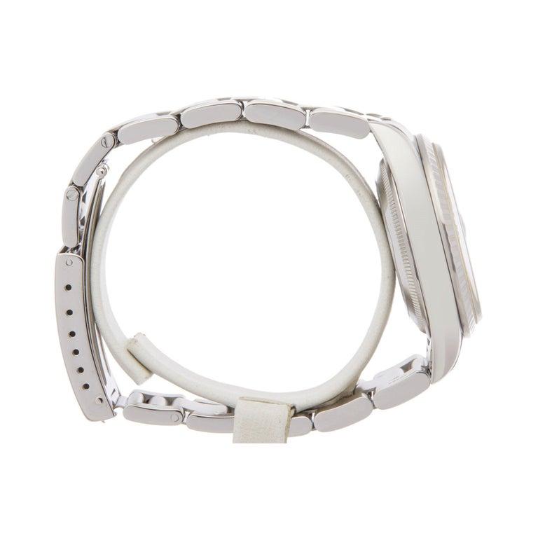 Women's or Men's Rolex Datejust 36 16220 Unisex Stainless Steel Linen Dial Watch