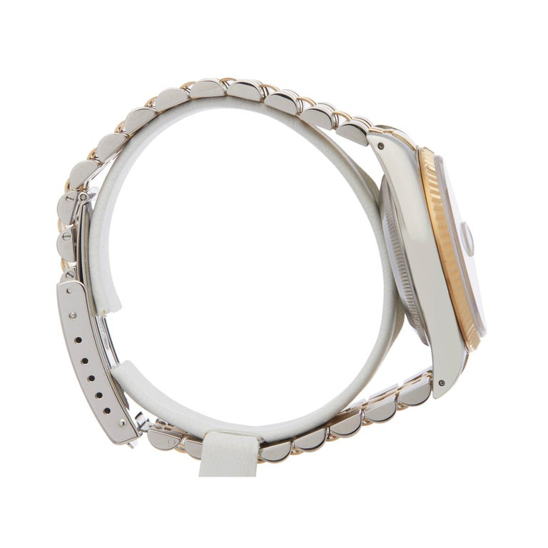 Rolex Datejust 36 16233 Men's Stainless Steel and Yellow Gold Diamond Watch In Excellent Condition In Bishops Stortford, Hertfordshire