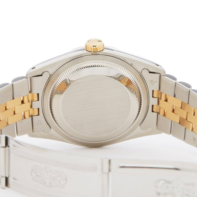 Rolex Datejust 36 16233 Men's Stainless Steel and Yellow Gold Diamond Watch 1