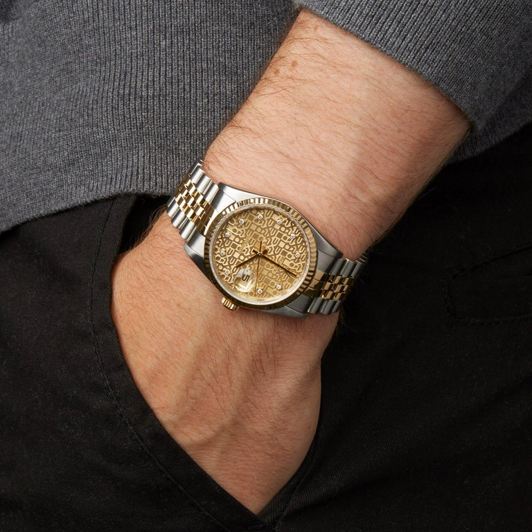 Rolex Datejust 36 16233 Men's Stainless Steel and Yellow Gold Diamond Watch 3