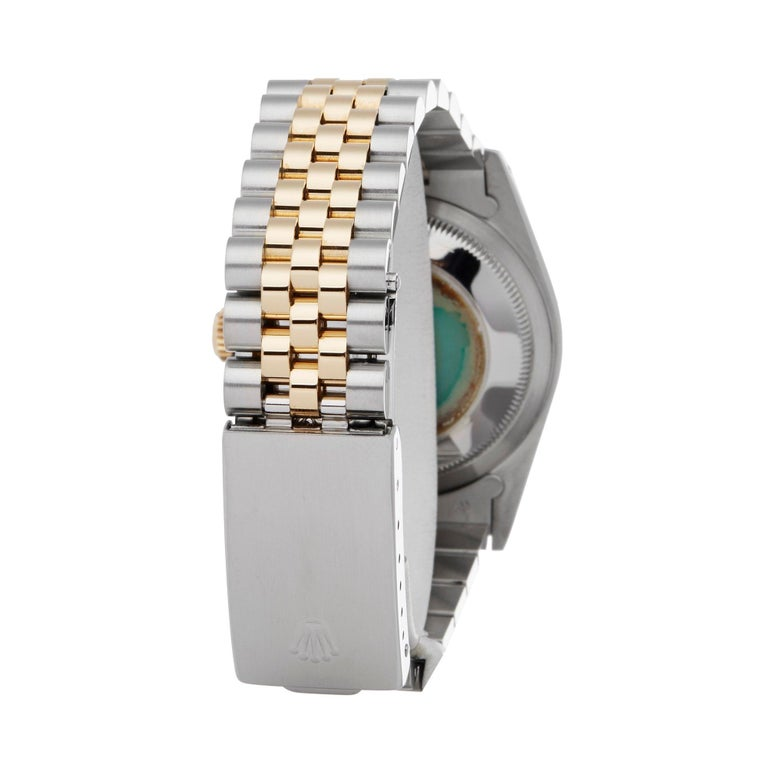 Rolex Datejust 36 16233 Unisex Stainless Steel and Yellow Gold Watch For Sale 1