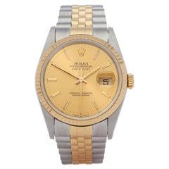 Rolex Datejust 36 16233 Unisex Yellow Gold & Stainless Steel 18K Watch