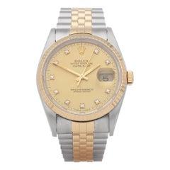 Rolex Datejust 36 16233 Unisex Yellow Gold & Stainless Steel Watch