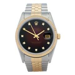 Rolex Datejust 36 16233G Unisex Yellow Gold & Stainless Steel 18K Watch