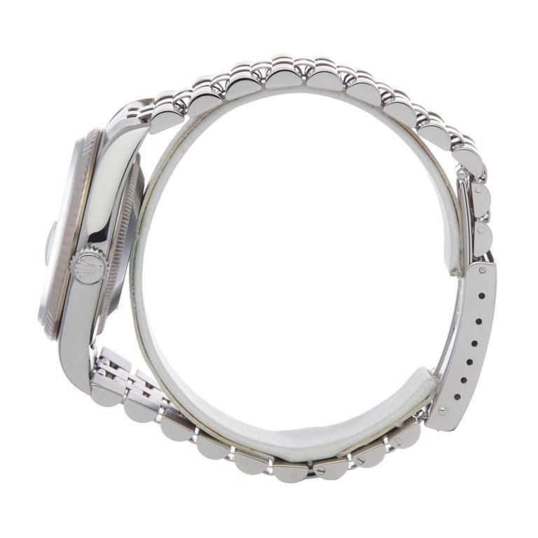 Rolex Datejust 36 16234 Unisex Stainless Steel Watch In Good Condition For Sale In Bishops Stortford, Hertfordshire