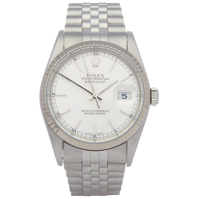 Rolex Datejust 36 16234 Unisex Stainless Steel Watch For Sale