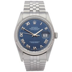 Rolex Datejust 36 16234 Unisex Stainless Steel Watch