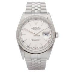Rolex Datejust 36 16234 Unisex Stainless Steel Watch