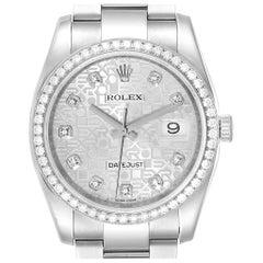 Rolex Datejust 36 Blue Diamond Dial Bezel Unisex Watch 116244