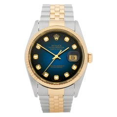 Rolex DateJust 36 Diamond Graduated Stainless Steel & Yellow Gold 16223G