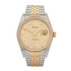 Rolex DateJust 36 Diamond Stainless Steel and Yellow Gold 16233