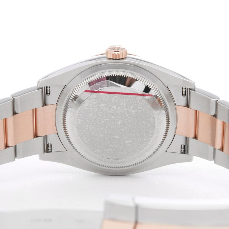 Rolex Datejust 36 Diamond Stainless Steel and Rose Gold 126231 For Sale 2