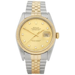 Rolex DateJust 36 Diamond Stainless Steel and Yellow Gold 16233G