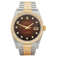 Rolex Datejust 36 Graduated Diamond Dial Stainless Steel and Yellow Gold 16233
