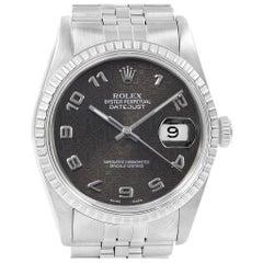 Rolex Datejust 36 Grey Tapestry Dial Steel Men's Watch 16220