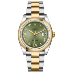 Rolex Datejust 36 Olive Green Dial Oyster Bracelet Men's Watch 126203