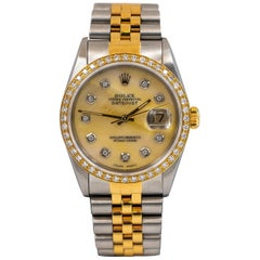 Rolex Datejust 36 Oystersteel Mother of Pearl Dial and 54 Factory Diamonds